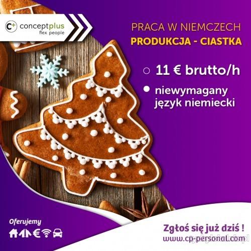Pracownik produkcji (k/m) – pakowanie ciastek - Niemcy